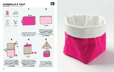 Small Sewing Projects, Sewing Projects For Beginners, Sewing Crafts, Hessian Crafts, Formation Couture, Clothes Basket, Cloth Pads, Sewing Baskets, Diy School Supplies
