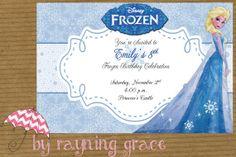 Disney Frozen Princess Elsa Birthday Party by RayningGrace on Etsy, $9.00