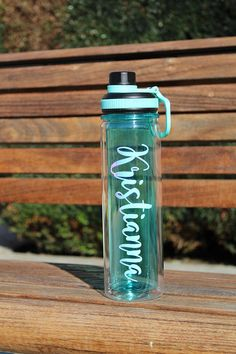 Personalized water bottle with name double wall personalized
