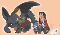 Strangers by jackfreak1994 How To Train Your Dragon X Lilo  Stitch
