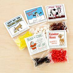 I can DIY these! Snow, Snowman Doo, Bag of Coal, Reindeer Noses or Moo Doo