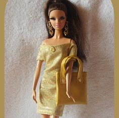Dress for Barbie doll with handbag Barbie doll by LussiFashion