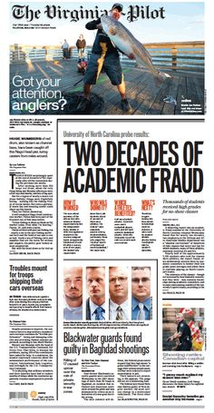 The Virginian-Pilot's front page for Thursday, Oct. 23, 2014.