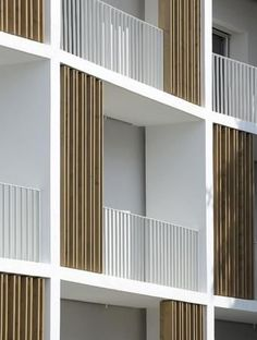 ideas apartment balcony facade building for 2019 Architecture Durable, Modern Residential Architecture, Plans Architecture, Concept Architecture, Sustainable Architecture, Interior Architecture, Farmhouse Architecture, Pavilion Architecture, Japanese Architecture