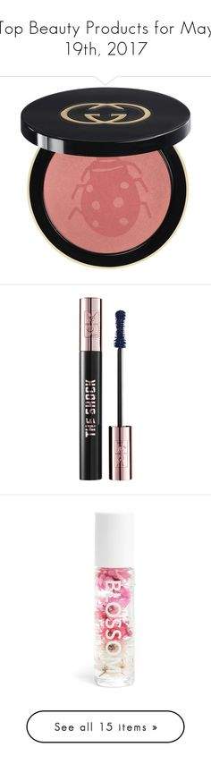 """""""Top Beauty Products for May 19th, 2017"""" by polyvore ❤ liked on Polyvore featuring beauty products, makeup, cheek makeup, blush, peach, blush brush, gucci, eye makeup, mascara and yves saint laurent"""