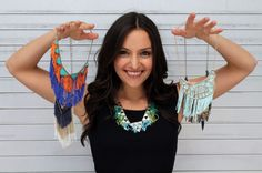 Make these five fringe necklaces in less than five minutes.