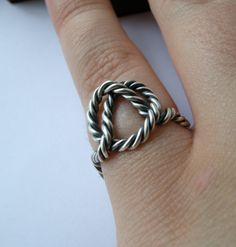 Super Cute nautical rope ring.