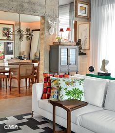 Cores alegres e estampas no apartamento de 200 m² em Salvador - Casa