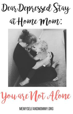 Are you a stay at home mom that suffers from depression? You are not alone. Please read my open letter to all depressed mommy's.