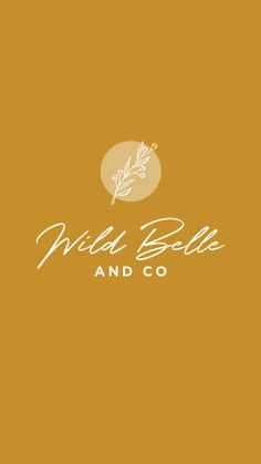 stem logo designed by Amari Creative. Wild Belle & Co. Flower stem logo designed by Amari Creative. Wild Belle & Co. Design Food, Graphisches Design, Design Studio, Graphic Design, Design Typography, Typography Logo, Logo Branding, Simple Typography, Creative Logo