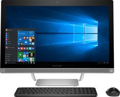 "Popular on Best Buy : HP - Pavilion 27"" Touch-Screen All-In-One - Intel Core i7 - 12GB Memory - 1TB Hard Drive - HP finish in turbo silver"