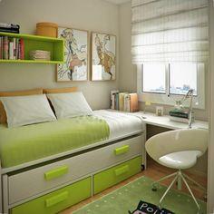 Wohnideen Fur Kleine Kinderzimmer kleine wohnung einrichten tipps schlafbett schubladen ziegelwand Wohnideen Jugendzimmer Einrichten Bett Mit Lagerraum
