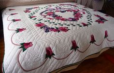 Country Roses Amish Quilt Hand Appliqued by QuiltsByAmishSpirit