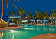 Swimming pool at Sandals Emerald Bay in the Bahamas