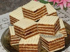 Prajitura Romanian Desserts, Romanian Food, Chef Recipes, Cookie Recipes, Desserts With Biscuits, Waffle Cake, Oreo Dessert, French Desserts, Homemade Cakes