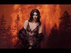 Kendall Jenner Is a Goddess in Sexy Black Lingerie in Fiery Love Advent Calendar Photos and Video | E! Online