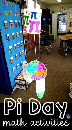 To celebrate Pi Day, I created three fun activities that let kids get artsy while not losing a day of learning. That one above is a Pi Day Pennant for middle and high school students with area and circumference problems and fun pi facts on each pennant. Some of the circle problems ask students to combine their understanding of the two circle formulas by finding area given circumference, for example. A fun challenge! #PiDay