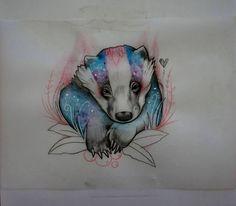Badger illustration by Miss Sucette