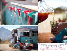 Vintage camper turned mobile tea room...love it!