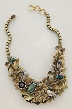 Miriam Haskell for Patch #NYC Elytra Bib #Necklace #anthrofave
