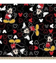 Disney® Mickey and Icons Toss Fleece Fabric