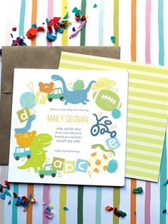 Toys n' Fun Baby Shower Invitations by Oubly.com