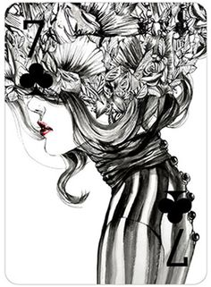 "Photo from album ""Модные игральные карты Connie Lim."" on Yandex. Art And Illustration, Fashion Illustration Collage, Girl Illustrations, Cute Art, Painting & Drawing, Art Photography, Sketches, Drawings, Artwork"
