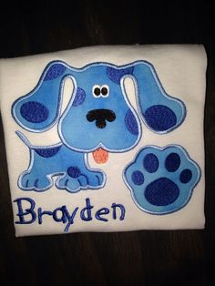 Hey, I found this really awesome Etsy listing at https://www.etsy.com/listing/171750011/blues-clues-personalized-shirt