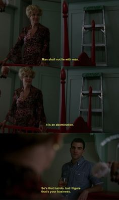 I need to watch that episode of American horror story again......I love that line!!