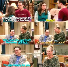 """Why does she get that? We never got that"" - Leonard, Penny, Sheldon and Amy #TheBigBangTheory (by bigbangtheory.updates)"