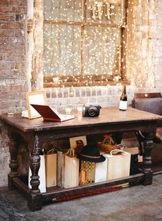 twinkly lights along the walls will look super in pictures