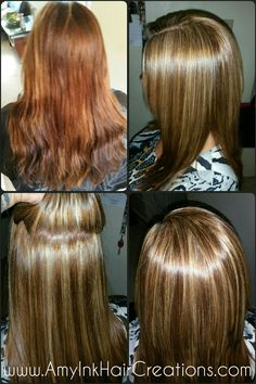 Color, baby highlights, toner, cut, blower and iron www.AmyInkHairCreations.com
