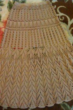 Crochet Skirt Pattern, Crochet Skirts, Crochet Clothes, Crochet Patterns, Gilet Crochet, Crochet Blouse, Crochet Woman, Diy Crochet, Lace Skirt Outfits