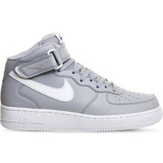NIKE Air force 1 leather high-top trainers