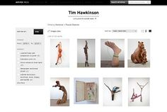 "A grid view of the ""Found Objects"" chapter of the Tim Hawkinson catalogue, sorted from newest to oldest"
