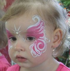 easy face painting for kids - Bing Images- hopefully this is easy enough for me of little tallent Girl Face Painting, Face Painting Designs, Painting For Kids, Paint Designs, Butterfly Face Paint, Kids Makeup, Maquillage Halloween, Costume Makeup, Face Art