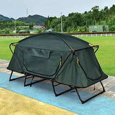 Buy Folding 1 Person Elevated Camping Tent Cot Waterproof Hiking Outdoor w Carry Bag at Wish - Shopping Made Fun Family Camping, Tent Camping, Camping Hacks, Outdoor Camping, Outdoor Gear, Camping Gear, Camping List, Camping Checklist, Camping Stuff