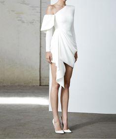 ALEX PERRY on Sale: Quinn One Shoulder White Satin Crepe Mini Dress Buy from Best selection of authentic designer dresses online. Women's Dresses, Elegant Dresses, Beautiful Dresses, Evening Dresses, Short Dresses, Fashion Dresses, Dresses Online, Wedding Dresses, Mini Dresses