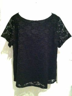 New CONTEXT Stretch Lace Knit Top Plus Size 3X | eBay