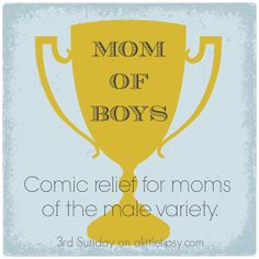 Mom of Boys: Comic Relief for Moms of the Male Variety {round 10}