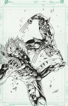 Wolverine vs. Sabertooth by Geebo Vigonte *