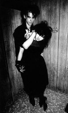 "Nick Cave and Lydia Lunch. Photo from 30/3/83, Los Angeles, The Roxy. Taken from Ian Johnston's ""Bad Seed"". S)"
