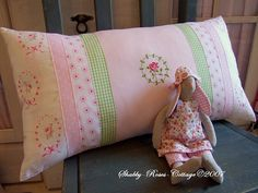 pillowcase by Shabby Roses Cottage - another pretty piece by Tilda