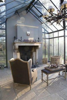 home decor neutral Outdoor Living Rooms, Outdoor Spaces, Veranda Aluminium, Veranda Design, Home Greenhouse, Glass House, Architecture, Great Rooms, My Dream Home