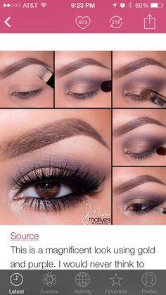 Love gold & purple smokey eye. My go to... Really bring out the green in my hazel eyes