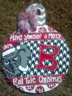 Alabama Christmas Ornament Door Hanger by StageCreations on Etsy, $40.00