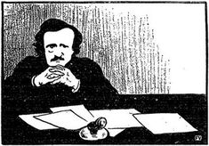 Happy 210th birthday to Edgar Allan Poe! Image credit: Edgar Allan Poe 1895 by Felix Vallotton. Public domain via Flickr. #edgarallanpoe #americanwriters #literature #onthisday #otd