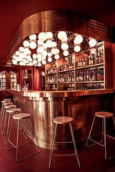 Discover the best lighting selection for bar decor inspiration for your next interior design project here. For more visit luxxu.net