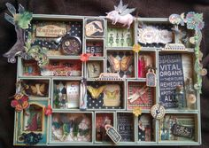 """A Stunning Tim Holtz Configurations Tray using Graphic 45's whimsical """" Olde Curiosity Shoppe..."""