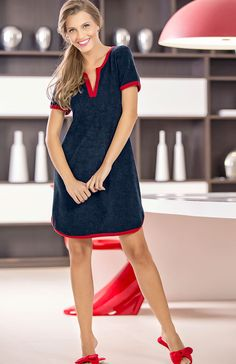 #Mixte #Sleepwear #Summer #Fashion Pijamas Women, Work Casual, Nightwear, Night Gown, Everyday Fashion, Casual Outfits, Short Sleeve Dresses, Clothes For Women, How To Wear